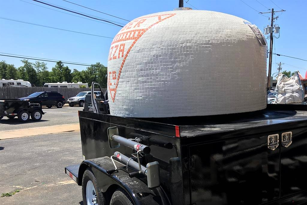 Marra Forni Mobile Brick Oven Client Timber Pizza Co New Trailer Side View