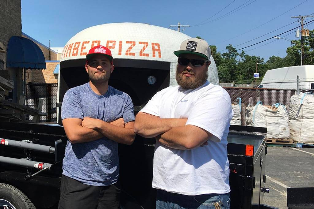 Marra Forni Mobile Brick Oven Client Timber Pizza Co Owners