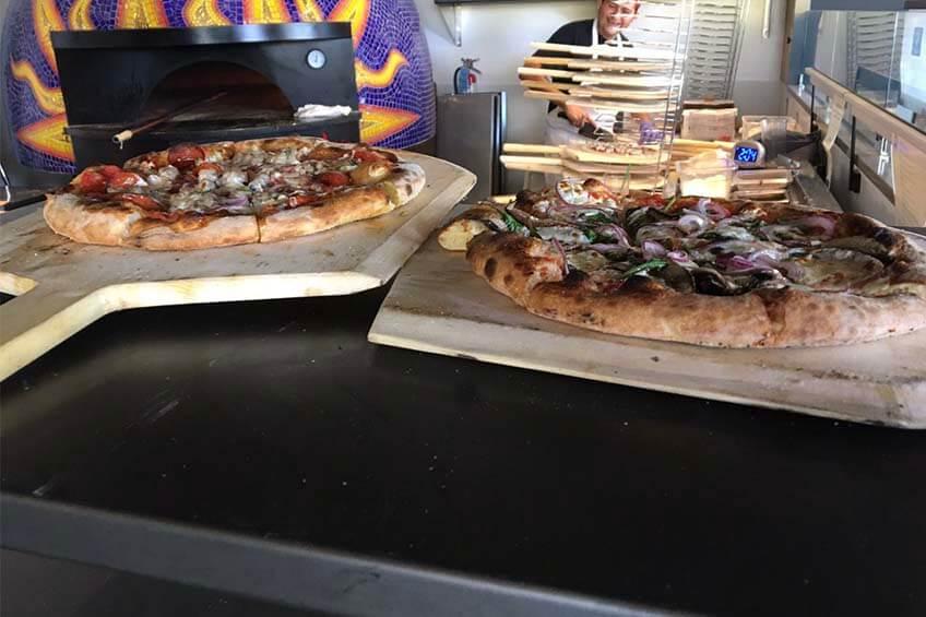 Marra Forni Neapolitan Brick Oven Client Pizzeria Paradiso Freshly Cooked Pizza