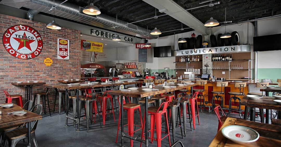 Marra Forni Rotator Brick Oven Client PizzaCo Inside Store