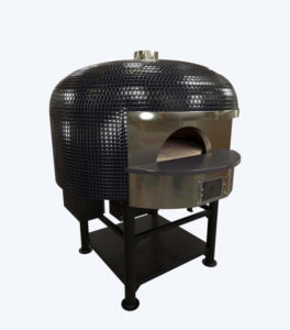 Marra Forni Products Black Square Tile Brick Oven Rotator Side View