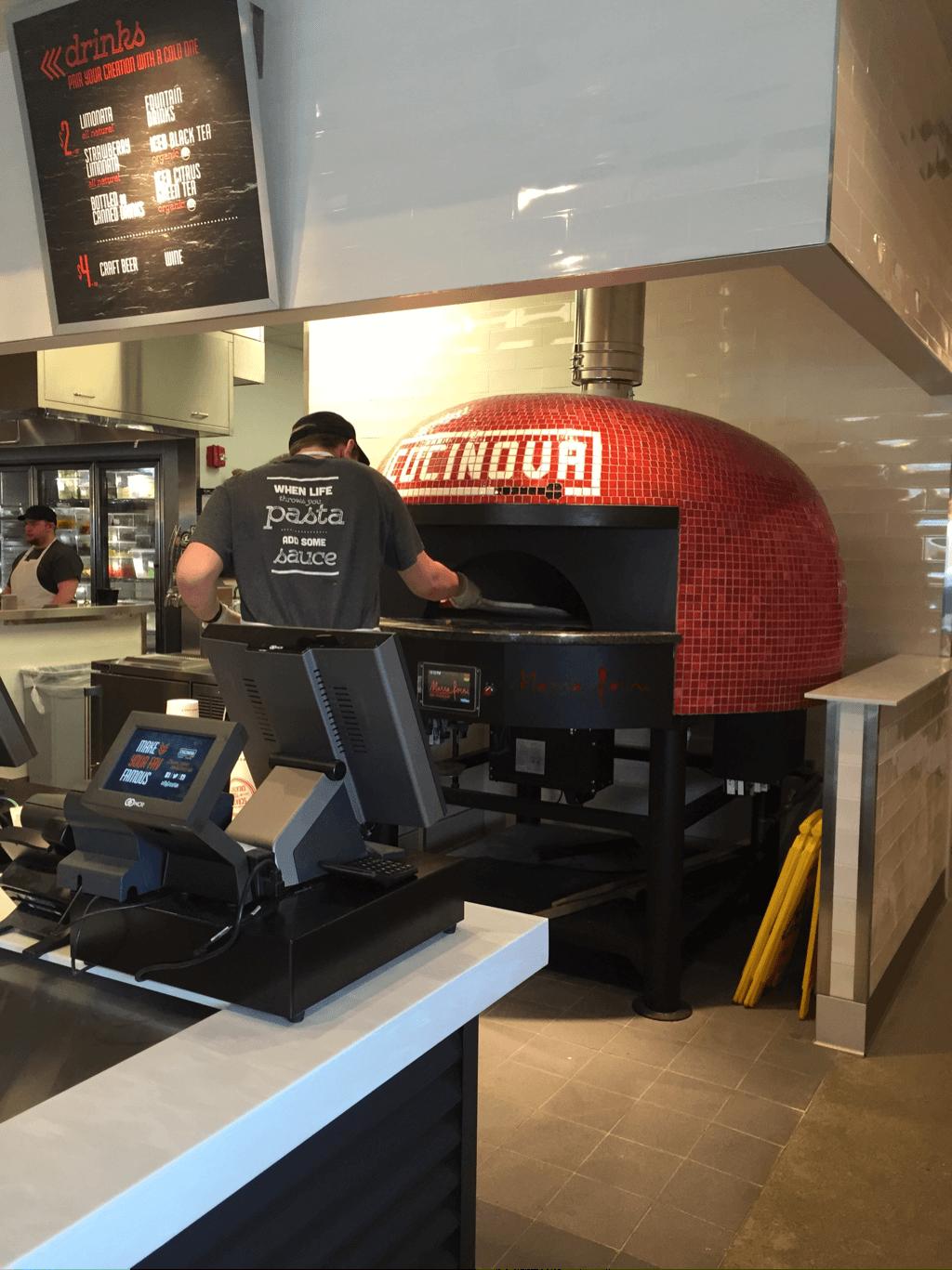 cucinova rotator rotator brick oven in operation