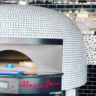 White Tiled Marra Forni pizza brick oven