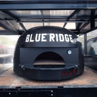 Blue Ridge Black tiled mobile pizza brick oven