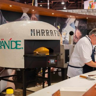Grande Cheese Company Decal on White marra Forni electric pizza oven