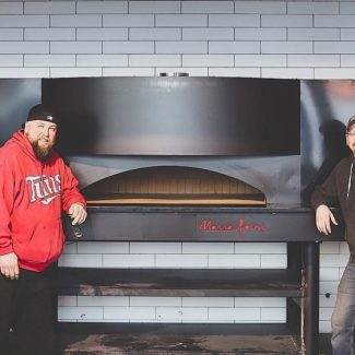 Proud Pair of Owners by Marra Forni square deck oven